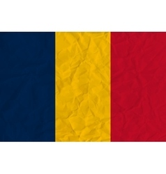 Chad paper flag vector image