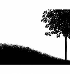Grass and tree vector