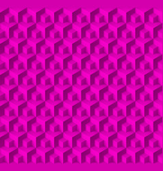 Abstract geometric background with cubes in pink vector