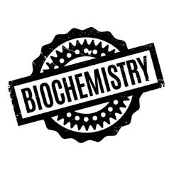 Biochemistry rubber stamp vector