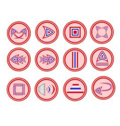 Button-icon-thai vector