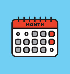 Calendar web icon office organizer business vector