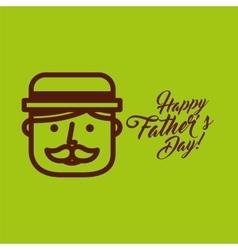 Cartoon face father day vector