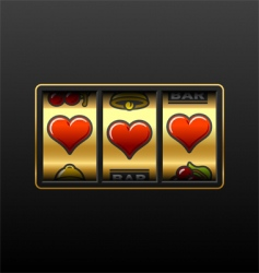 casino slot machine vector image vector image