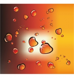 cola or beer drops vector image