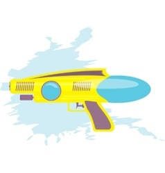 Colorful water gun kids toy vector