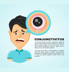 flat suffering young man vector image
