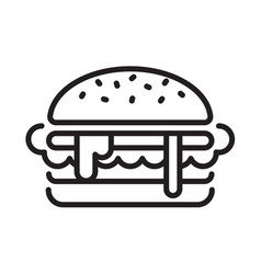 Graphic hamburger vector