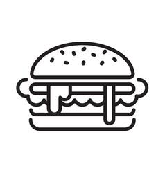 Graphic hamburger vector