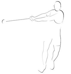 Hammer throwing 1 vector image vector image