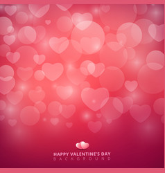happy valentines day with shining heart bokeh on vector image