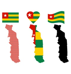map of the Togolese Republic vector image