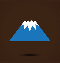 mountain logo template vector image vector image