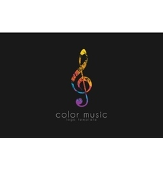 Note logo Music logo Creative logo Color logo vector image