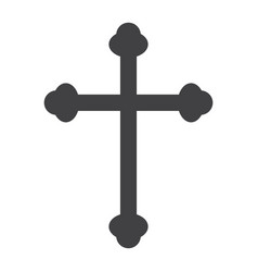 Religion cross glyph icon easter and holiday vector