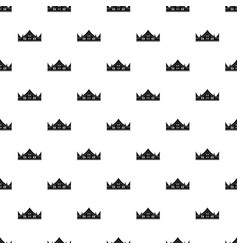 royal crown pattern vector image vector image