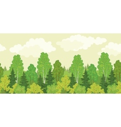 Seamless background forest vector image vector image