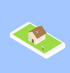 Search for real estate via the internet through vector