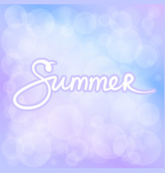 Summer lilac bokeh background vector