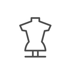 tailors dummy line icon vector image vector image