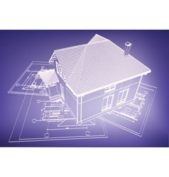 wireframe buildings vector image vector image