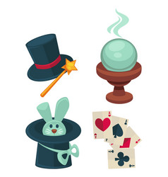 wonderful magic tricks special equipment for vector image