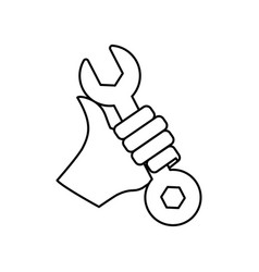 wrench construction tool equipment vector image vector image