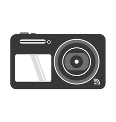 Digital photographic camera icon vector