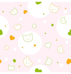 Baby kitty Pattern vector image