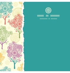 Colorful abstract trees square torn seamless vector image