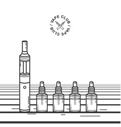 Vape smoking device with e-cigarette vector