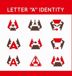 Set of logo or icon design for business branding vector