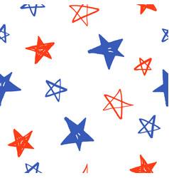 Sketchy hand drawn stars vector