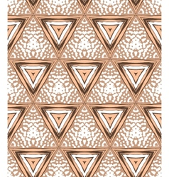 1930s art deco geometric pattern with triangles vector