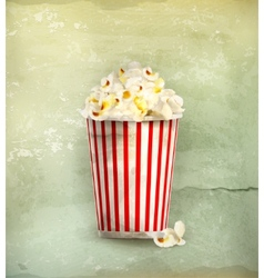 Popcorn old-style vector