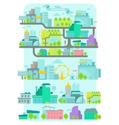 Modern city set vector image