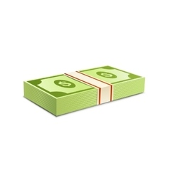 Packs-dollars-money vector