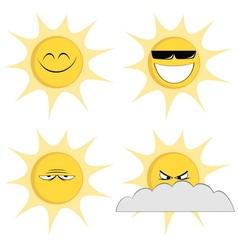 Summer sun mascots vector image