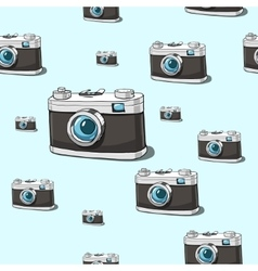Seamless camera background vector