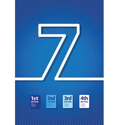 blue number vector image
