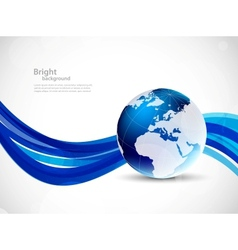 Background with globe vector