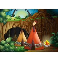 A tent in nature vector image