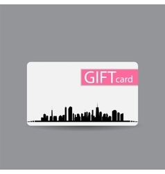 Abstract beautiful city gift card design vector