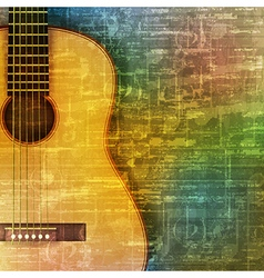 Abstract green music grunge background acoustic vector