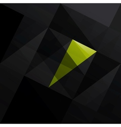 Abstract triangle black background vector image vector image