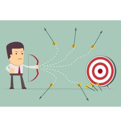 Businessman shooting arrow vector