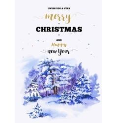 Christmas vertical frame card with winter vector