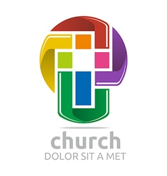 Chruch croos christian icon symbol abstract vector