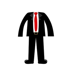 color silhouette with male clothing elegant suit vector image