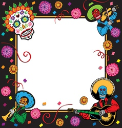 day of the dead party invitation vector image